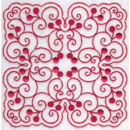 Cherries Quilt Blocks Redwork 10