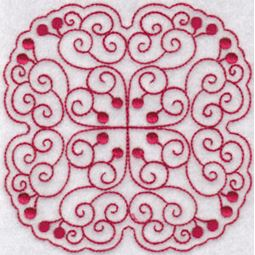 Cherries Quilt Blocks Redwork 2