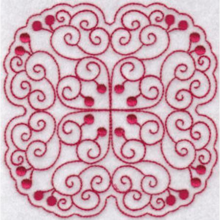 Cherries Quilt Blocks Redwork 2