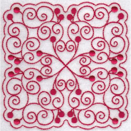 Cherries Quilt Blocks Redwork 6