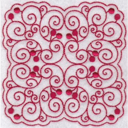 Cherries Quilt Blocks Redwork 8
