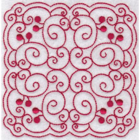 Cherries Quilt Blocks Redwork 9