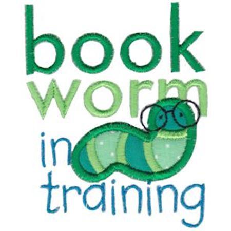 Book Worm In Training Applique