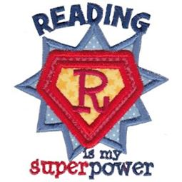 Reading Is My Super Power Applique