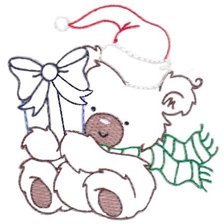 Christmas Bears Vintage Stitch 1