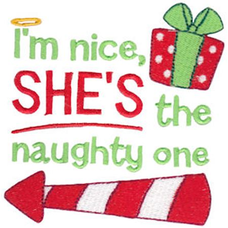 I'm Nice She's The Naughty One Left