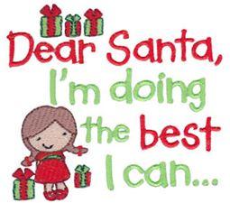 Dear Santa I