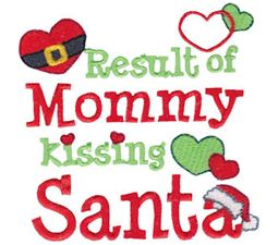 Result Of Mommy Kissing Santa