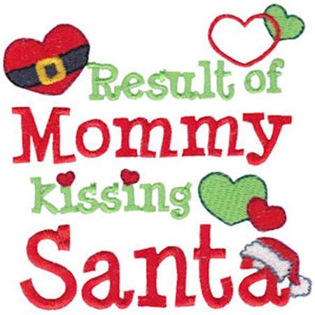 Result Of Mommy Kissing Santa