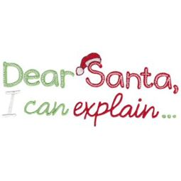 Dear Santa I Can Explain