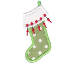 Christmas Stockings Applique 2