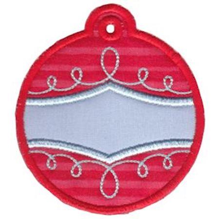 Christmas Tags Applique 6