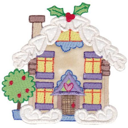 Christmas Village Applique 1
