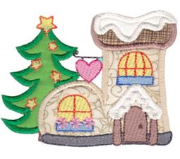 Christmas Village Applique 9
