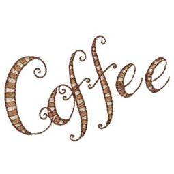 Striped Coffee Word Art