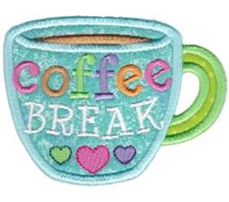Coffee Break Mug Applique