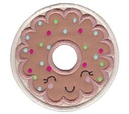 Chocolate Donut Applique