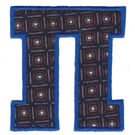 College Greek Alphabet Applique 15