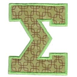 College Greek Alphabet Applique 18
