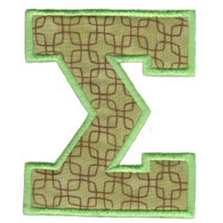 College Greek Alphabet Applique 18