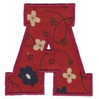 College Greek Alphabet Applique