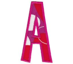 Comic Alphabet Applique Capital A