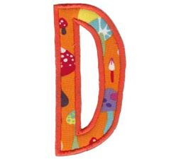 Comic Alphabet Applique Capital D