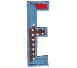 Comic Alphabet Applique Capital E