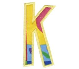 Comic Alphabet Applique Capital K