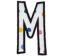 Comic Alphabet Applique Capital M