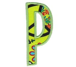 Comic Alphabet Applique Capital P