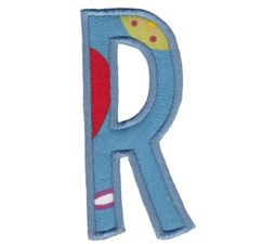 Comic Alphabet Applique Capital R