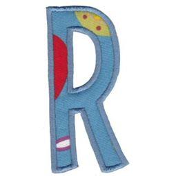 Comic Alphabet Applique Capital R