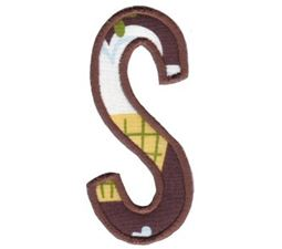 Comic Alphabet Applique Capital S