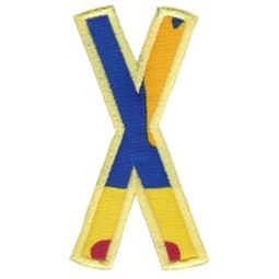 Comic Alphabet Applique Capital X