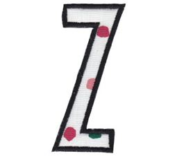 Comic Alphabet Applique Capital Z