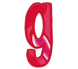 Comic Alphabet Applique Lower Case g