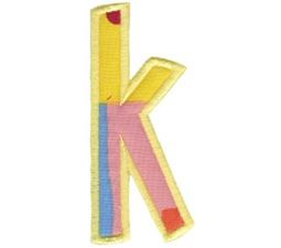 Comic Alphabet Applique Lower Case k