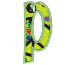 Comic Alphabet Applique Lower Case p