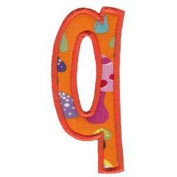 Comic Alphabet Applique Lower Case q