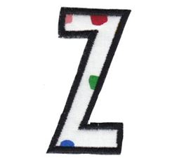 Comic Alphabet Applique Lower Case z