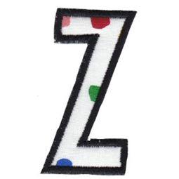 Comic Alphabet Applique Lower Case z