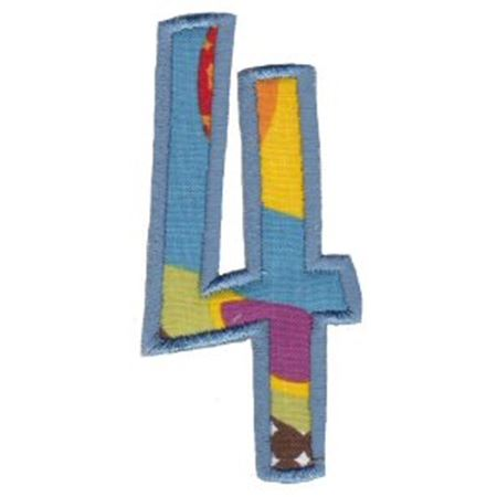 Comic Alphabet Applique Number 4