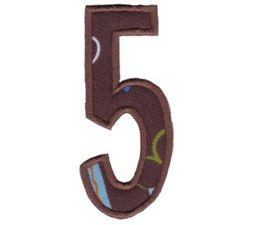 Comic Alphabet Applique Number 5