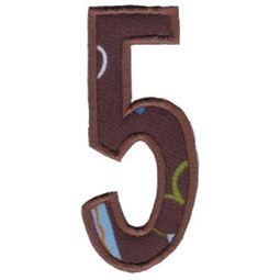 Comic Alphabet Applique Number 5