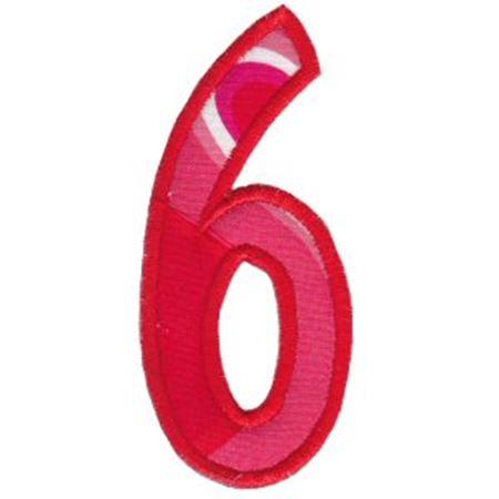 Comic Alphabet Applique Number 6