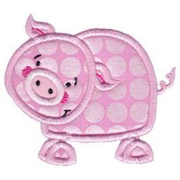 Pig Stick Animal Applique
