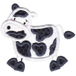 Cow Stick Animal Applique