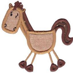 Horse Stick Animal Applique