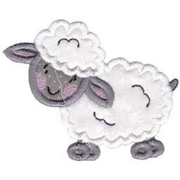 Lamb Stick Animal Applique